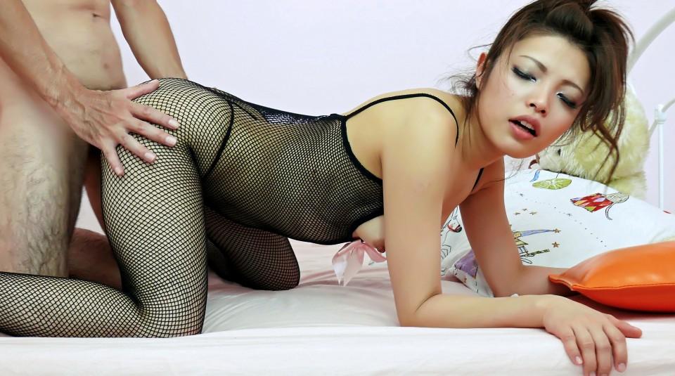 Yurika gotou in fishnet widen her more at slurpjpcom 7