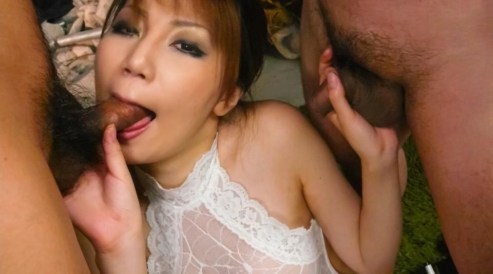 Yui komine sucks boners and is fucked 2