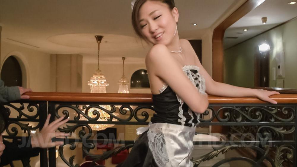 Preview JAV HD - Maki Horiguchi Asian with juicy chest licks and sucks three dicks